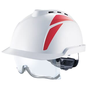V-GARD 930. Cap. Vented, white, red stickers